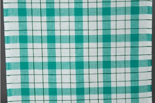 Blanding i grønne ruter for håndklær