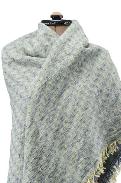 Blått og grønt sjal