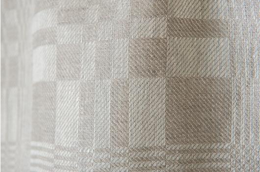 Grå 100% lin i tradisjonelle mønstre for håndklær