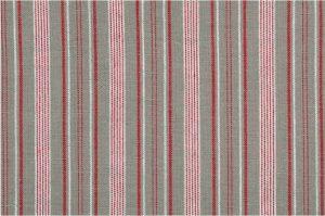 Grå blanding med røde og hvite striper