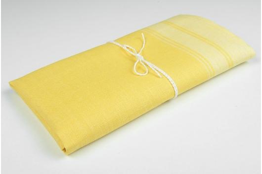 Gult 100% lin håndkle