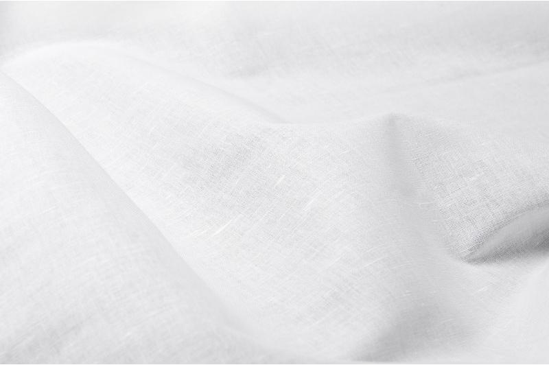 Hvit blanding lin/bomull