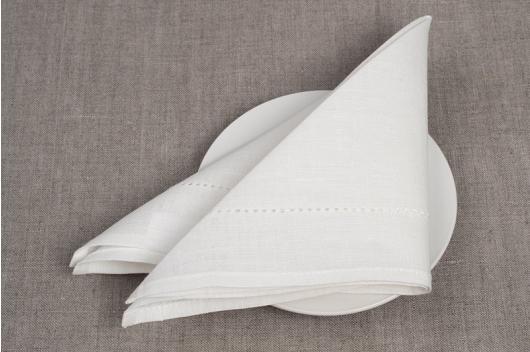 Hvit festlig serviett