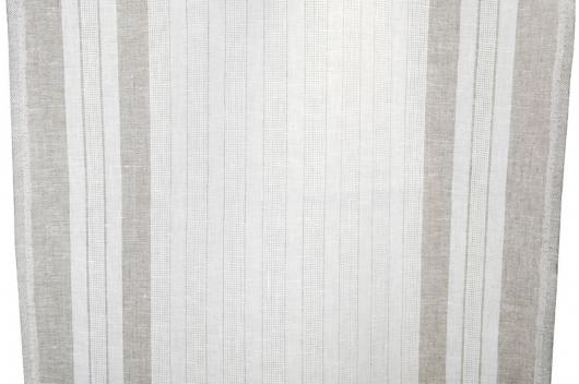 Hvit stripete 100% lin for håndklær