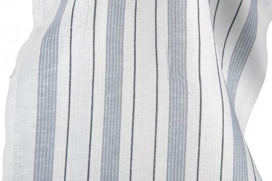 Hvit stripete blanding for håndklær