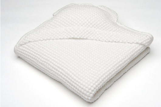 Hvitt barnehåndkle