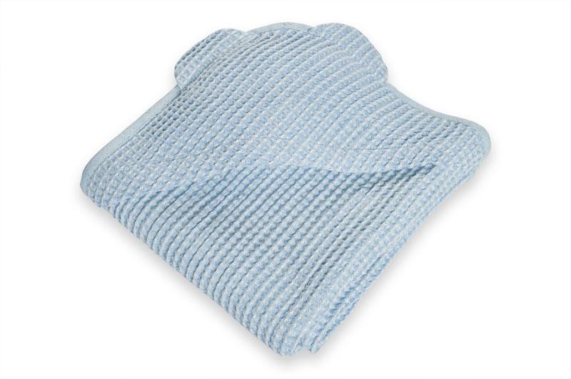 Lyseblått barnehåndkle