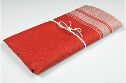 Rødt 100% lin håndkle