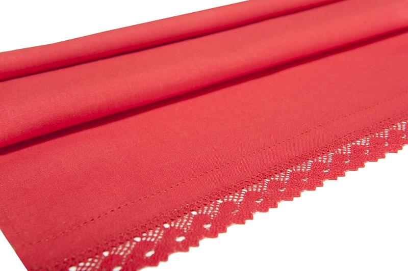 Rødt håndkle