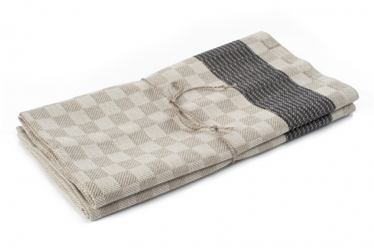 To rutete og stripete håndklær