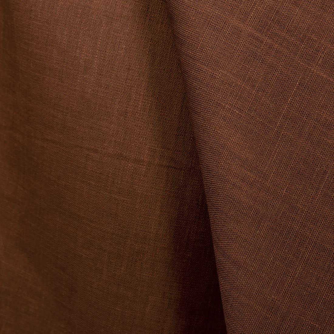 3aac6691 100% lin i en brun farge - linbutikken.no